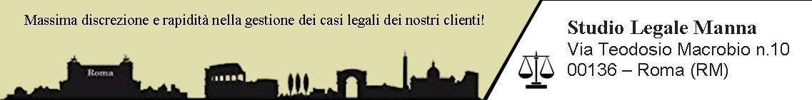 Banner Studio Legale Manna Roma